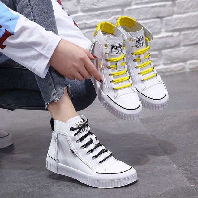 2019 moda tênis para mulher respirável plataforma tênis feminino sapatos de luxo designers femininos vulcanize martin botas