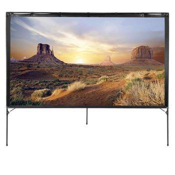 Portable New Outdoor Projector Screen 16 : 9 Transportable Foldable 80 Inch Projector Screen With Carry Bag
