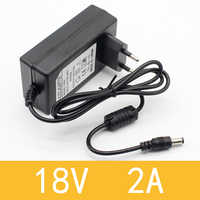 1 Pcs 18V 2A Ac 100 V-240 V Dell'adattatore Del Convertitore Dc 18V 2A 2000mA di Alimentazione spina di Ue 5.5 Millimetri X 2.1-2.5 Millimetri