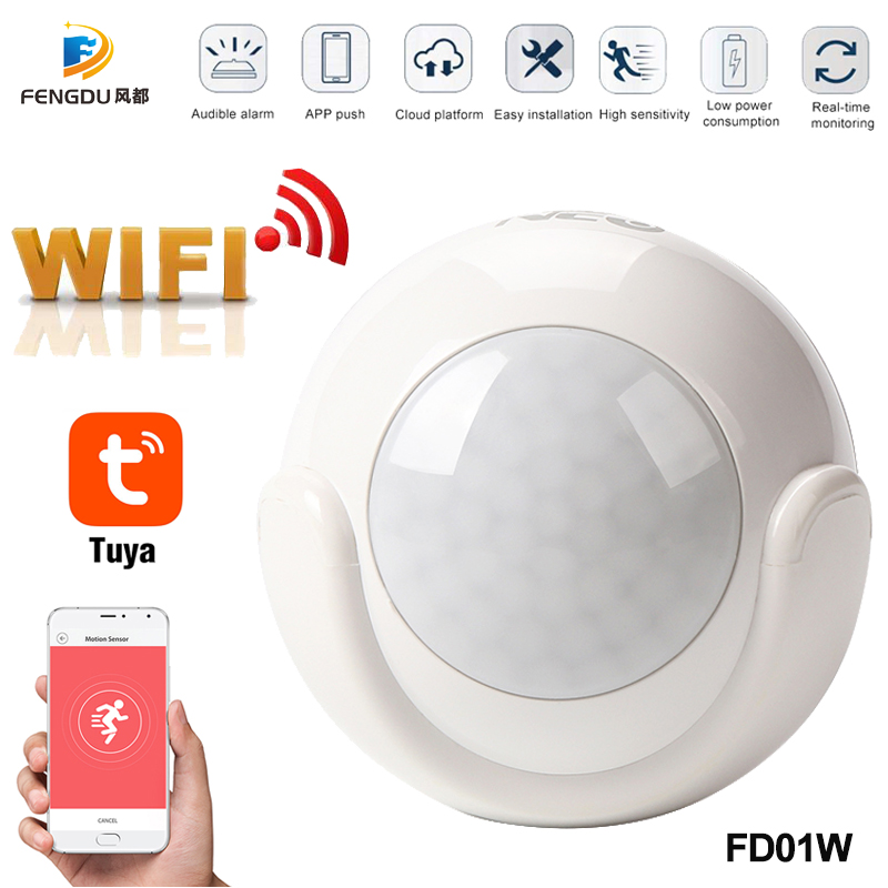 2020 Newest Smart WiFi PIR Motion Sensor Human Body Sensor Detector Home Alarm System Smart PIR Motion Sensor Tuya Smart Life