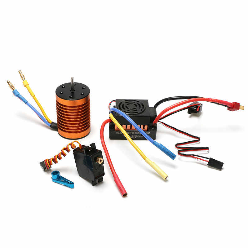 Adanse Brushless Upgrade Kit Motor ESC Receiver Remote Controller Servo Set for WLtoys 144001 A959-B A979-B RC Car Spare Parts