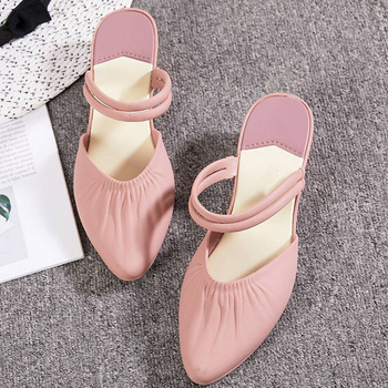 New Woman Pointed Toe Wedge Casual Waterproof Sliiper Women Slip On Bandage Fashion Beach Sandals Female Folds Two Wear Shoes