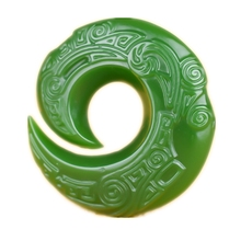 Real Hetian Jade Good Luck Necklace Pendant Hand Carved Emerald Gemstones Men and Women Lucky Amulet Best Gift 2018 hot sales unisex buddha gold jade pendant discount top quality good luck necklace for women men