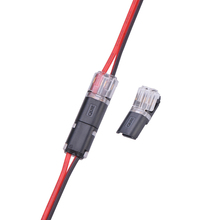 10pcs 2pin Pluggable Spring Scotch Lock Wire Connector for 22-20AWG Wire Quick Splice Connector Cable Crimp Terminal Blocks free shipping 20 pcs 2 pin way spring scotch lock connector 24 18awg wire for led strip quick splice connector cable crimp