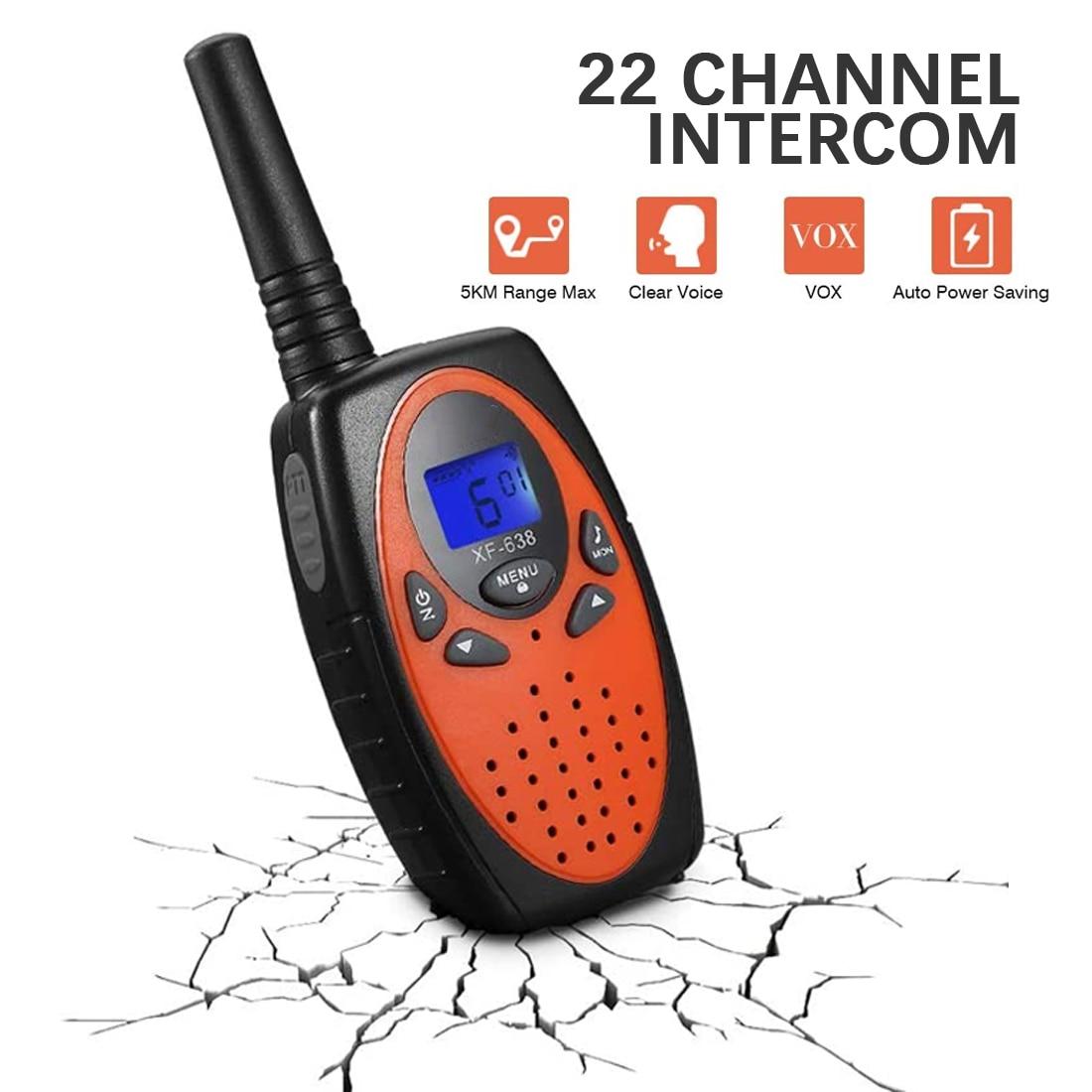 Marnaska MIni Walkie Talkies 2Pcs/Pack 22 Channels  Children Gift/Family Use/Camping Two Way Radio Handheld Interphone