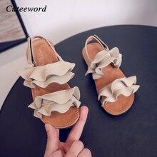 Girls Kids Sandals 2020 Summer New Kids Flat Shoes Non-slip
