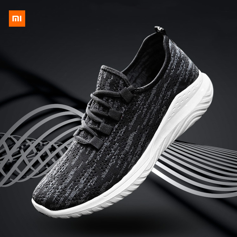Xiaomi Mijia Youpin Новая мужская обувь, летающие тканые кроссовки, трендовая повседневная обувь, мужская обувь для фитнеса, бега, упражнений|Смарт-гаджеты|   | АлиЭкспресс