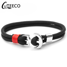 CUTEECO 2019 Hot Hight Quality Anchor Bracelets Bangles For Women Sport Hooks Navy Style Multilayer Rope Sailor Gift Dropshping