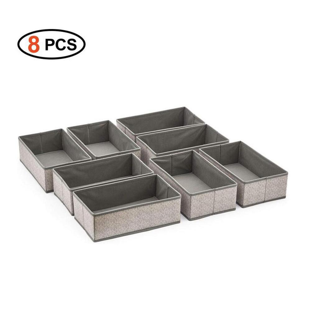 Новый 8 шт/партия контейнер ящик разделитель для шкафа коробки для галстуков носки короб для нижнего белья бюстгальтеров горячие настольные украшения коробка