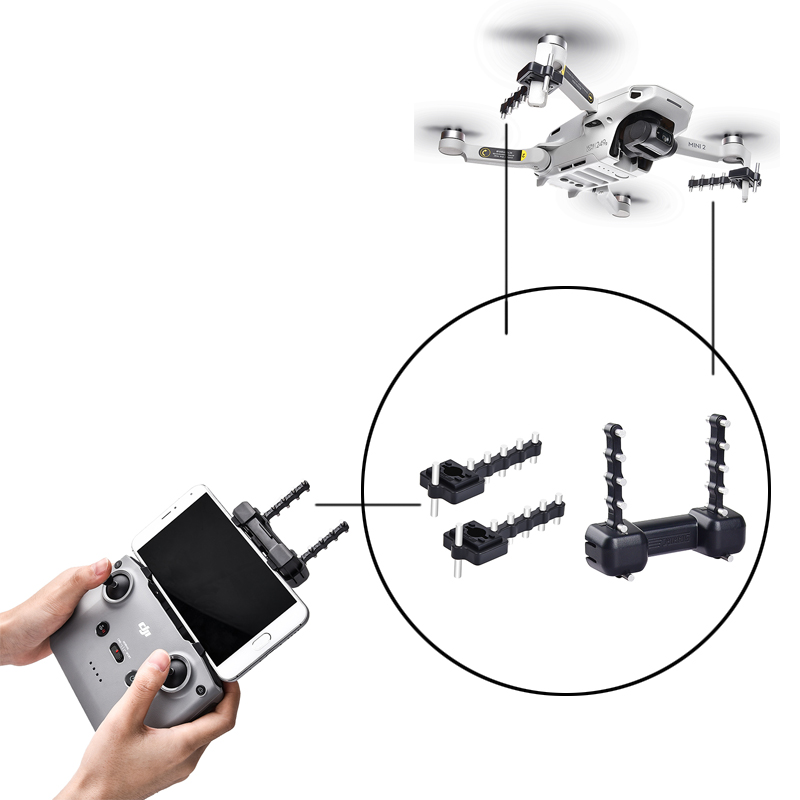 5.8G Mini 2 Drone and Controller Antenna Yagi Signal Booster Range Extender Premium version For DJI Mini 2 Extension 2.5-3.5KM