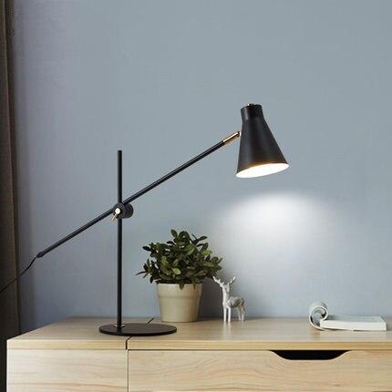 Europa lâmpada de mesa quarto cabeceira concisa moderno acolhedor dormitório estudo casa ferro forjado originalidade eyeshield lâmpada mesa|Luminária de mesa| |  - title=