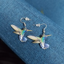 Lucky Bird Acrylic Personality Exquisite And Changeable Color Earrings FemaleNew Fashion Party Wedding Birthday Gift 2021