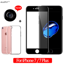3-in-1 Camera Tempered Glass For iphone 7 Screen Protector plus Protective glass film