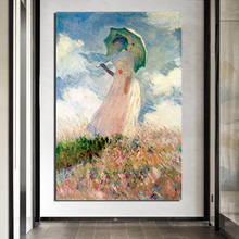 Claude Monet Umbrella Girl HD Canvas Painting Print Living Room Home Decoration Modern Wall Art Oil Painting Posters Pictures claude monet in summer canvas painting prints living room home decoration modern wall art oil painting posters pictures artwork