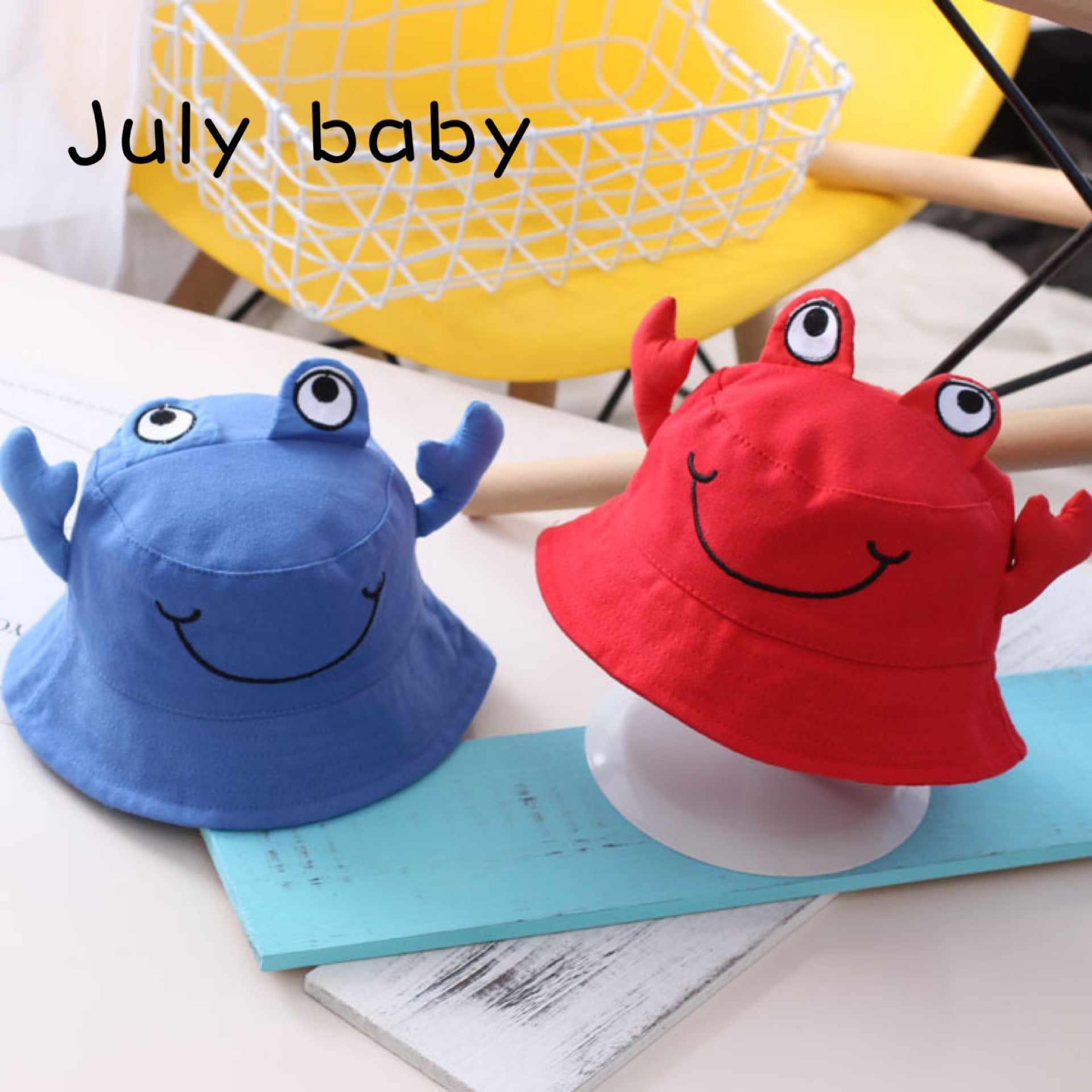 July Baby Fisherman Hat 1-3 Years Old Tide Boy Baby Girl Basin Hat Spring And Autumn Cartoon Baby Sun Hat