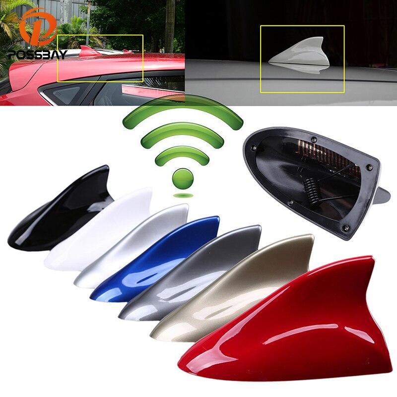 Универсальная автомобильная антенна POSSBAY, плавник акулы, декоративная антенна на крышу, авто FM AM усилитель сигнала для Chevrolet Kia Ford BMW VW