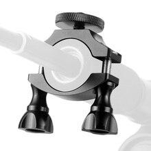 Guiador 1/4 câmera da bicicleta braçadeira suporte tripé de montagem parafuso clipe para câmera de ciclismo para insta360 um r para gopro 9/8/max
