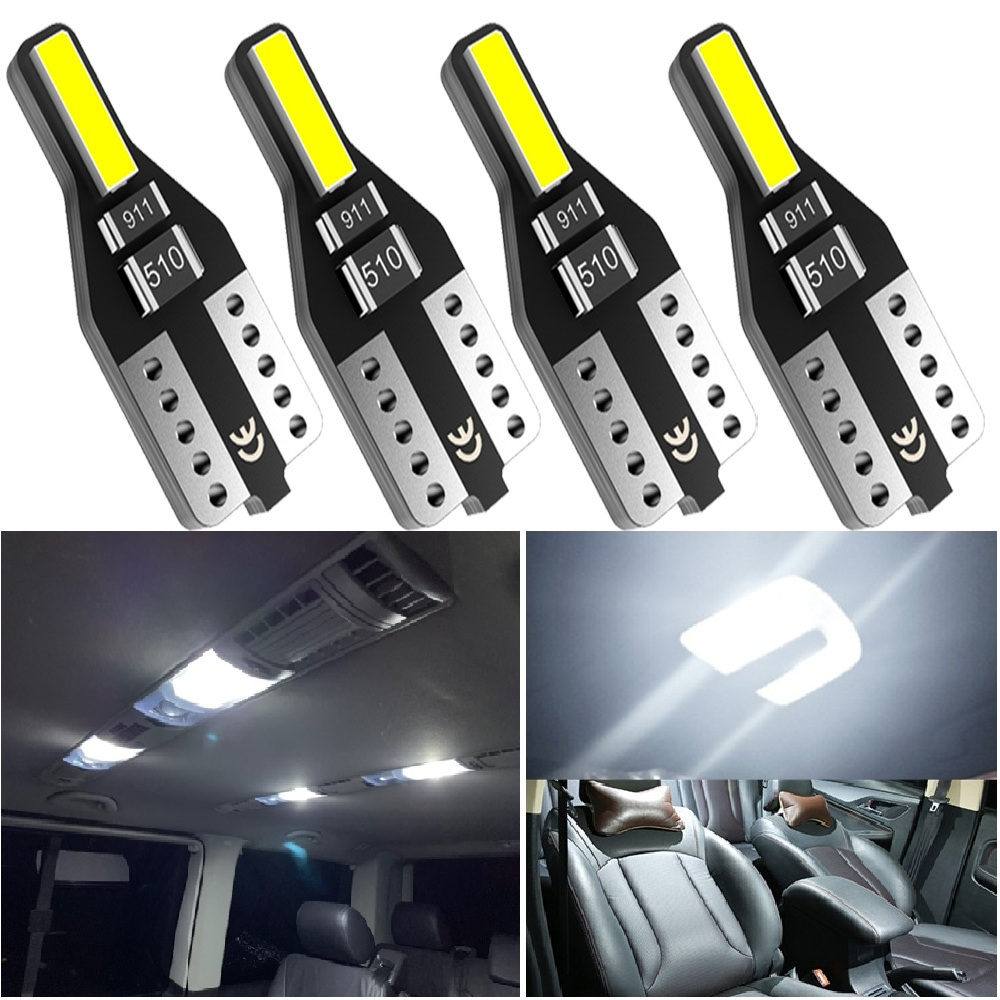 4PCS T10 W5W <font><b>LED</b></font> Car Interior Light 12V 168 194 Reading Lamp For <font><b>BMW</b></font> E46 E90 E60 E39 <font><b>E36</b></font> F30 F10 F20 F25 E30 E34 E53 X5 E87 E70 image