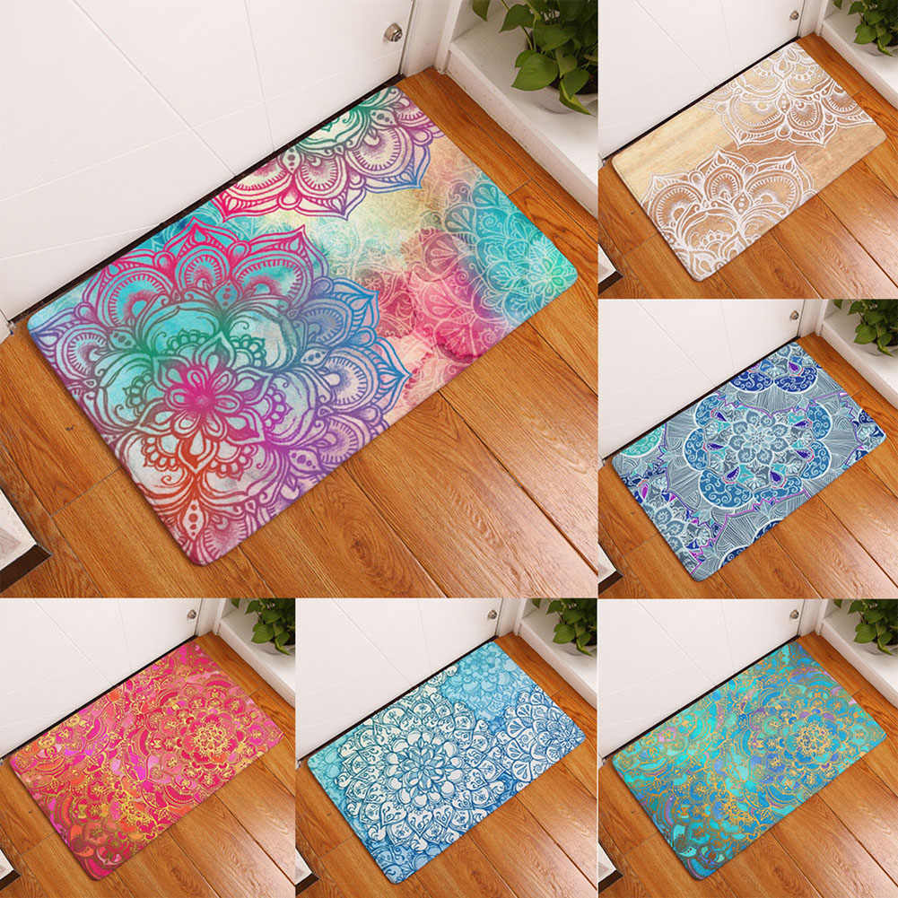 40x60cm criativo tapete de porta floral do banheiro tapete antiderrapante tapete de banho tapetes de pé almofada de decoração de casa