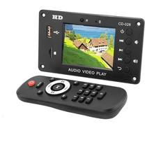 HJXY bezprzewodowy Bluetooth Audio dekoder wideo ekran LCD DTS bezstratnej moduł Bluetooth mp4/mp5 wideo HD APE/WAV dekodowania wyżywienie