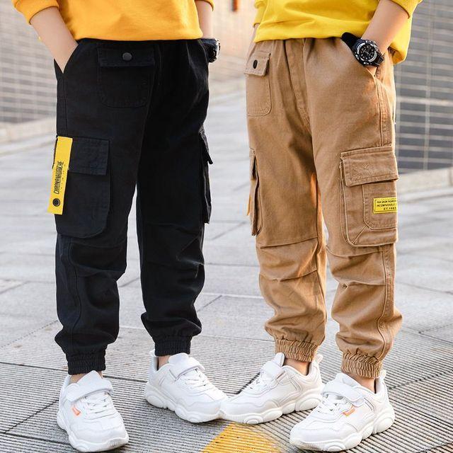Kids Boys Casual Sports Trousers Clothes Child Boys Elastic Waist Long Pants