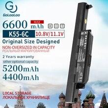Golooloo 6 CELLE Nuova Batteria Del Computer Portatile Per ASUS A32 K55 A33 K55 K55 A41 K55 A75A A45DE K75A X55A A75DE A95 A55D X75V k45D K45VM A45A