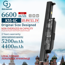 Golooloo 6Cells Nieuwe Laptop Batterij Voor Asus A32 K55 A33 K55 K55 A41 K55 A75A A45DE K75A X55A A75DE A95 A55D X75V k45D K45VM A45A