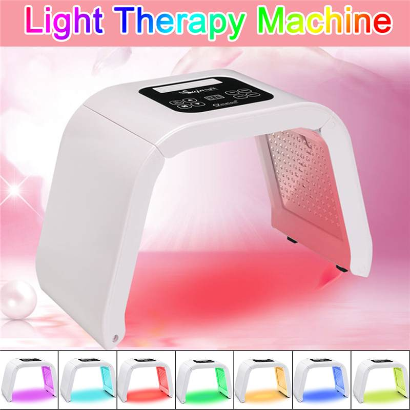Hot 4/7 Colors LED Photon Mask Light Therapy PDT Lamp Beauty Machine Treatment Skin Tighten Facial Acne Remover Anti-wrinkle