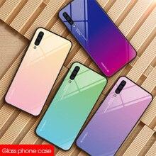 Чехол из закаленного стекла для samsung Galaxy S8 S9 Plus S10 Lite, разноцветный чехол для Galaxy Note 8 9, блестящий чехол с градиентом