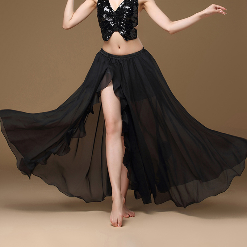 Image 5 - 2019 New Belly Dancing Side Pulling Long Satin Skirt Lady Belly Dance Skirts Women Sexy Oriental Belly Dance Skirt ProfessionalBelly Dancing   -