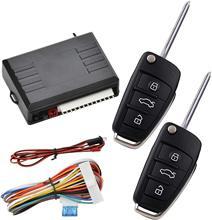 Système d'entrée sans clé de voiture, Kit de boîte de commande centrale à distance de véhicule avec 2 clés pour verrouillage de porte/déverrouillage de fenêtre automatique