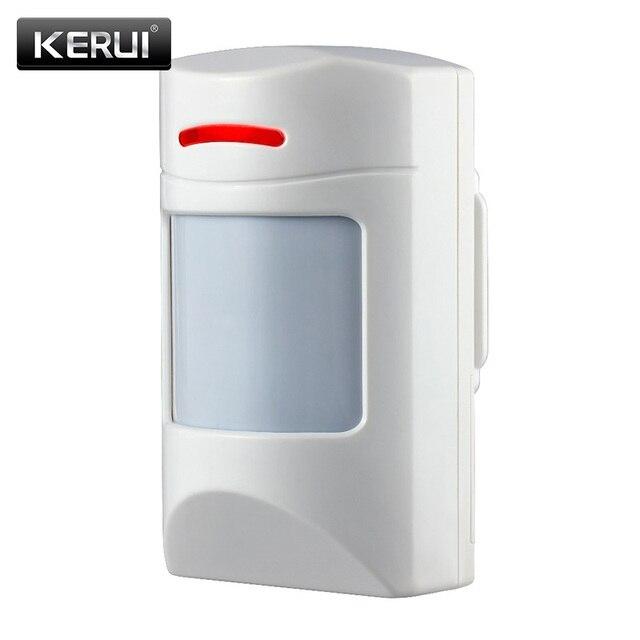 Kerui sem fio alarme doméstico anti pet imune pir sensor de movimento detector infravermelho para gsm pstn wifi sistema de alarme g18 g19 w2