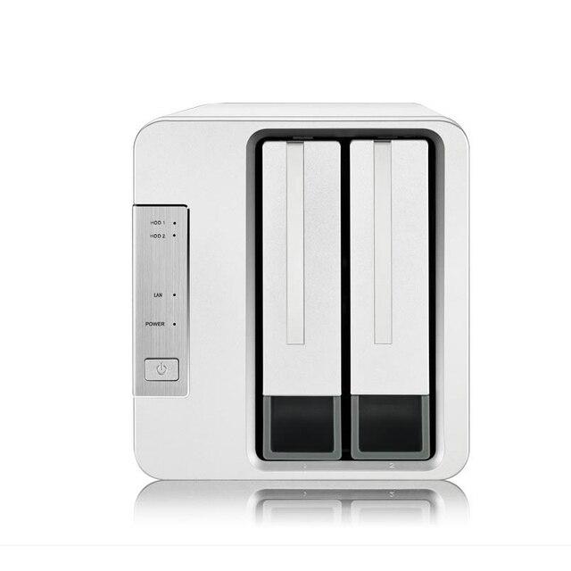 2 Bay HDD NAS 2bay NAS for Home SOHO Office Network Storage Cloud Server 1Gb Memory 1*RJ 45 G Ethernet Raid Function