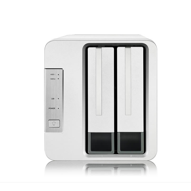 2 Bay HDD NAS 2bay NAS per la Casa Ufficio SOHO di Storage di Rete Cloud Server 1Gb di Memoria 1 * RJ 45 G Ethernet Funzione Raid