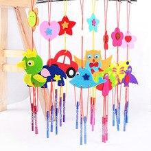 Campanas de viento en 3D de EVA para niños, artesanal juguete hecho a mano, Kits de juguetes artesanales, pegatinas para colgar, parabrisas, regalo educativo de cumpleaños