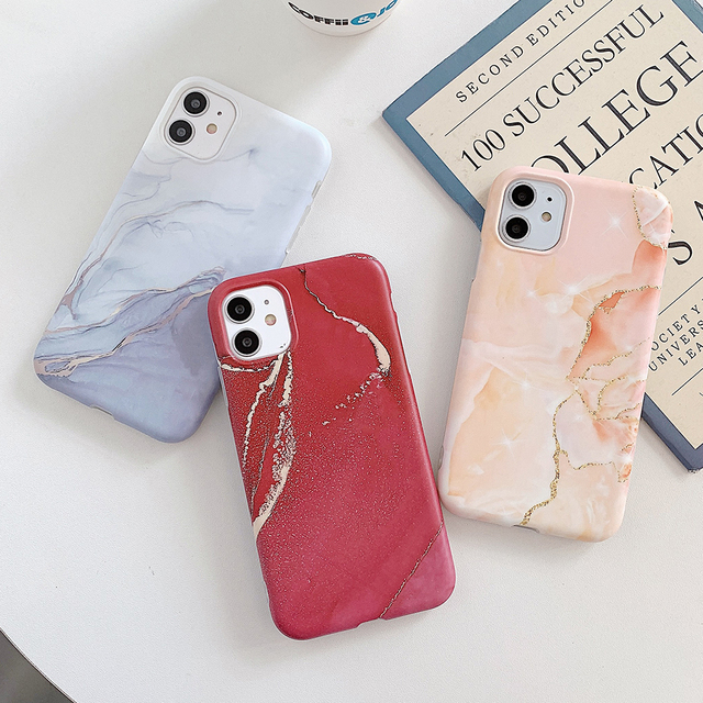 LOVECOM Vintage Gradual Color Marble Phone Case For iPhone 12 11 Pro Max XR XS Max 6 7 8 Plus X Matte Soft IMD Back Cover Coque 4