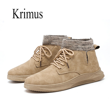 Casual shoes men Warm Winter Men Boots Leather Footwear For sock High Top Canvas Shoes buty meskie