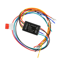 Controlador DRL de luces de circulación diurna para coche, relé, arnés, atenuador de encendido/apagado, 12-24V, controlador de luces de señal de giro