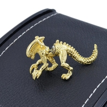 2pcs/pairs Jewelry 3D Scary Monster Alien Stud Earring Black Color Dinosaur Fashion Earring For Wome