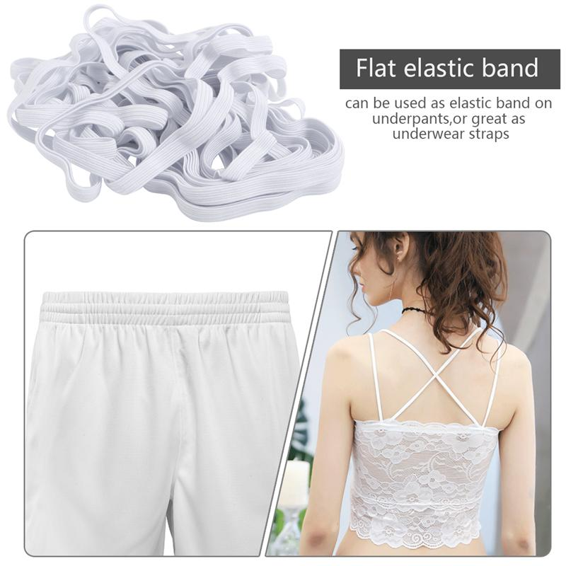 10M X 6mm White Elastic Bands Black Elastic Bands DIY Springy Stretch Knitting Sewing Flat Elastic Bands Cloth Shoe Covers(China)