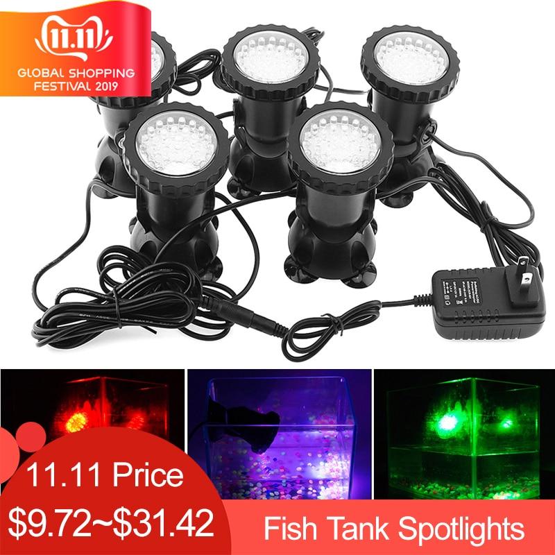 1pc-5cs 36 LEDs Color Landscaping Spotlights Water Grass Fill Light Pool Lighting Light For Aquarium Fish Tank Pool Water Garden