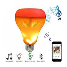 Bluetooth Speaker Flame Lamp DJ Disco Colorful Rotating LED Bulb Stage Professional Audio Equipment Decorative Llamp