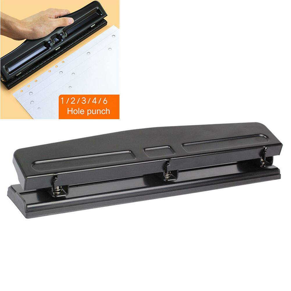 A4 File Binding Paper Punch 3-Hole Hole  Loose Leaf Manual Puncher DIY Scrapbooking Puncher Creative Office School Binding Tool
