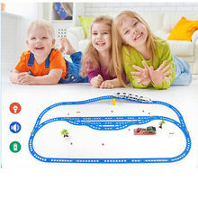 RC Electric Train Christmas Toy Train Model Railway Set Remote Control Trains Toy Electric Christmas Trains For Children Gifts(China)
