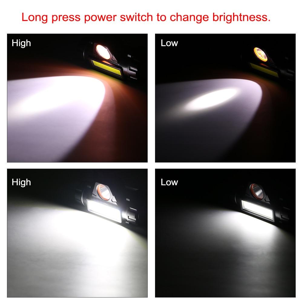cheapest ZHIYU Portable Mini Flashlight Q5 COB Led Headlamp High Power Built-in 18650 Battery Outdoor Camping Headlight Stepless Dimming