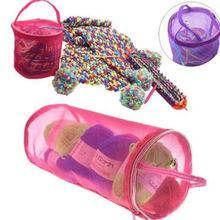 Круглая пряжа для вязания крючком сумка рукоделия нейлоновый