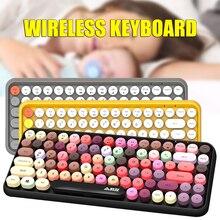 Bluetooth Wireless Keyboard 84 Keys Splash-Proof Steampunk mechanical keyboard for Smartphones iPad Laptops in stock