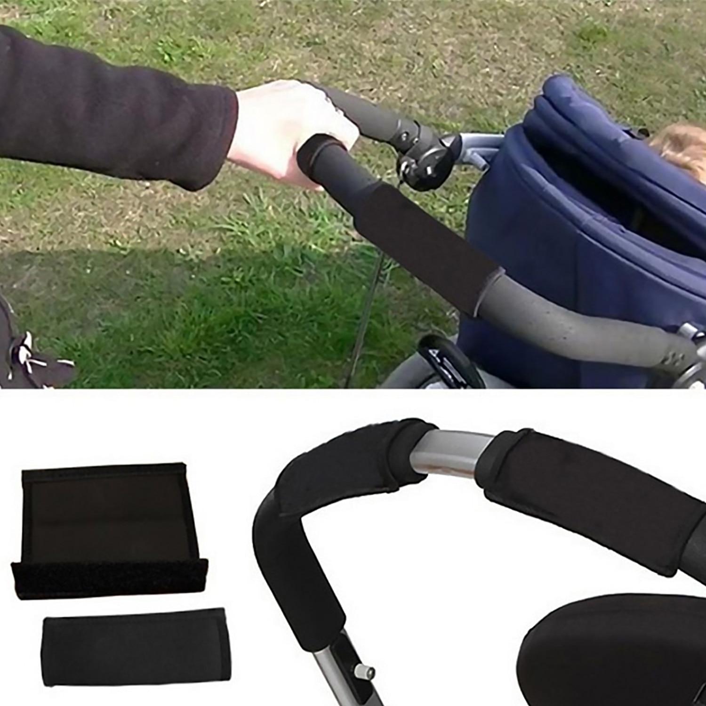 2PCS Anti-slip Waterproof Sweatproof Handle Bar Grip Cover Protector For BabyStroller Carriage Pram Umbrella Bicycle Cart