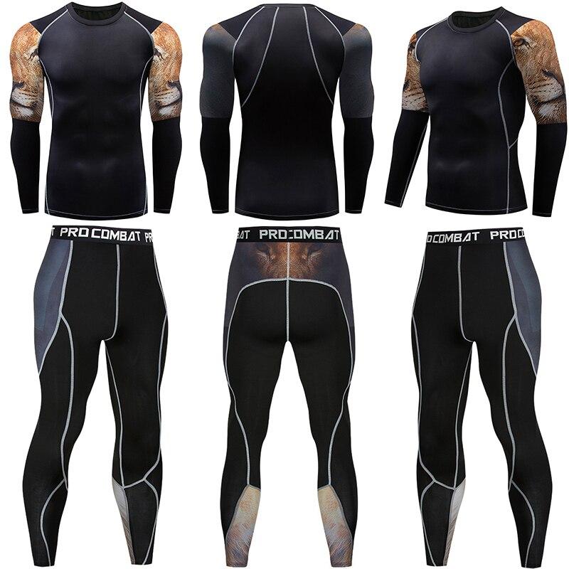 MMA мужская компрессионная рубашка высокого качества, спортивная одежда, комплект, футболка с длинным рукавом, топы для фитнеса, спортивные к...