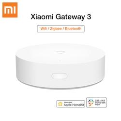 Xiaomi Mijia Smart Mi Gateway 3 ZigBee WIFI Bluetooth Mesh Multimodes Hub Remote Control Home Security For Mi home Apple Homekit
